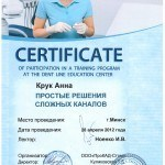 сертификат Крук Анны