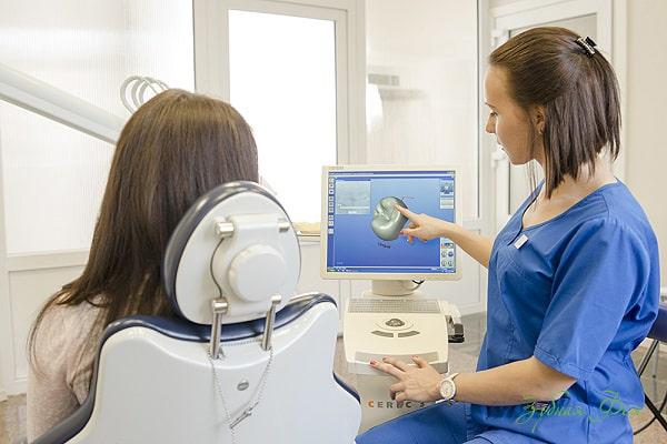 протезирования зубов Cerec